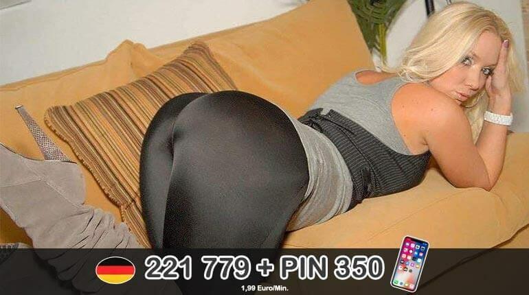 Live Telefonsex Erotik mit blonder Hausfrau